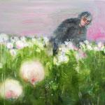Man in poppies 50x50 cm Oil/Canvas 2009