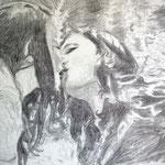 Kiss 50x65 cm Graphite/Paper 2013