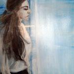 Phtalo blue, 20x30 cm, oil on canvas, 2015