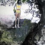 Dark Tree 170x200 cm Oil/Graphite/Canvas 2013