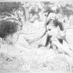 Rosegarden 50x65 cm Graphite/Paper 2013