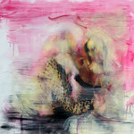 Catching the cheetah 3, 90 × 96 cm, oil, pigmentprint paper on forex, 2016