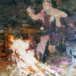 Fire 220x150 cm Oil/Canvas 2010