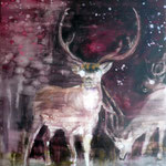 Nightdeer 1 80x60 Oil/Canvas 2010