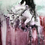 White Horse 3 60x50 cm Oil/Canvas 2011