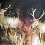 Nightdeers11 100x160 Oil/Canvas 2012