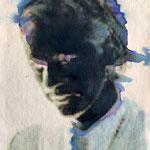 Julian, 30x20, mixed media on paper, 2015