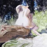 Sun 130x220 cm Oil/Graphite/Canvas 2013