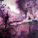 Purplefire 190x220 cm Oil/Canvas 2011