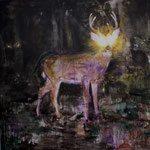 Nightdeer 4 160x160 cm Oil/Canvas 2010