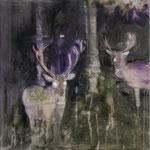 Dark Deers 50x50 cm Oil/Canvas 2009