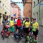Start von Team 2 in Regensburg