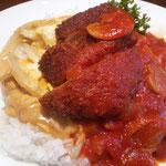 湯楽里 レストラン若紫 ボルガライス2