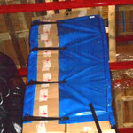 Чехол на паллет из ткани ПВХ со стяжными ремнями