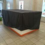 Чехол для мазагина-острова в торговом центре (выполнен из облегченной синтетической ткани)