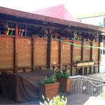 Чехлы из синтетической непромокаемой ткани на уличную мебель в открытое кафе