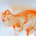 Dinostudie (2015, Tusche/Papier, 30x40 cm)