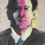 Willy Sen. (Dustin Hoffman) (2012, Bleistift/Acryl/Papier, 42x59)