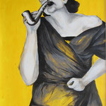 Lydia (2012, Bleistift/Acryl/Papier, 48x63 cm)