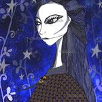 La fille bleu nuit