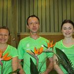 2014 Kreismeister über 10 km. v.l. Bianca Brandt-Wolpers, Erich Rasche, Isabell Haubner