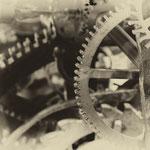 Räderwerk der Uhr