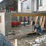 Anbau Garage Rotzhalde Stans - Betonwände der Garage