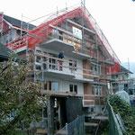 Neubau Dorfstrasse 25 Rohbauphase abgeschlossen