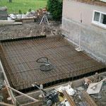 Anbau Wohnhaus Rütistrasse - Bodenplatte zum betonieren bereit.