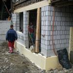 Sanierung Aussenwand - Aus einem Keller wurde ein Zimmer.