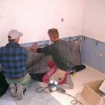 Behebung Unwetterschäden Ryser Beckenried - Befestigung der Wassersperre
