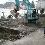 Aushub Anbau Garage Rotzring 5 Stans