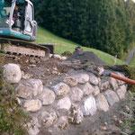 Unwetter August 2005 - Bachmauer Flicken am Mittellauf vom Trästlibach