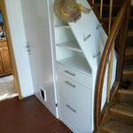 Platzfüller unter der Treppe