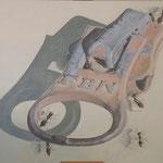 """ Zipper "" Öl auf Leinwand / 50 x 70 cm / 2018----CHF 1'850----"