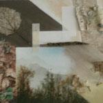 Zurück nach Natur- Integrierte Bildern 30x70 / Acryl und Naturgegenstande ---CHF 450---