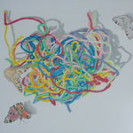 """Where get the butterfly...his color"" Öl auf Malplatte / 60 x80 cm / 2019----CHF 2'300----"