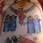 Mosaik im Langhaus (evangelisch) der Simultankirche - Foto P. Welker