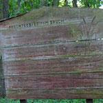 Die alte Hinweistafel von damals steht auch noch - sie hätte etwas mehr Regenschutz verdient