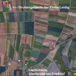 Das Exkursionsgebiet ca. 3 km nördlich von Lambsheim