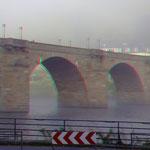 """""""Alte Brücke"""" in Heidelberg im Morgennebel"""