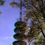 Der Funkturm mit neuen Antennen