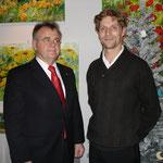 Landeshauptmann Hans Niessel und Egger Martin - Weihnachtsmarkteröffnung 2012