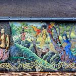 Fresque murale sur l'office du tourisme.