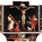 Une source d'inspiration pour cette oeuvre : le retable d'Isenheim peint par Matthias Grünewald entre 1512 et 1516.