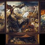 La Guerre. Triptyque d'Otto DIX peint entre 1929 et 1932.