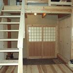 無垢材,木の家,猫の嬉しいスキップフロアーの家