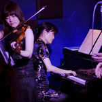 "25th Feb 2014 ""Song of Salieri"" World Premiere at Last Waltz, Shibuya. Yuka Takaki (Vn) and Keiko Harada (Pf). Photo by Hiromichi Ugaya"