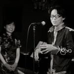 【サリエリの歌】世界初演直後のトーク、安冨歩 氏、原田敬子。photo by 烏賀陽弘道 氏