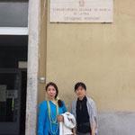 2014年5月 国際音楽祭 「オット・レスピーギ」ラティーナ音楽院訪問  (ピアニスト 廻由美子氏と)